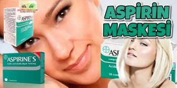 Aspirin Maskesi Sivilce Lekeler Cilt Beyazlatma İçin